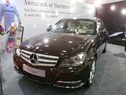 Mercedes-C-Class-Chocolate-Color-Car
