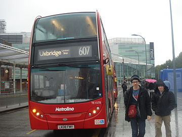 Metroline West TE1578 on Route 607, White City.jpg