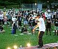Mic Crenshaw performing at Black Lives Matter demonstration in Portland, Oregon.jpg