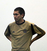 Michael Farfan at Preseason Training for the Philadelphia Union, Jan 2011.jpg