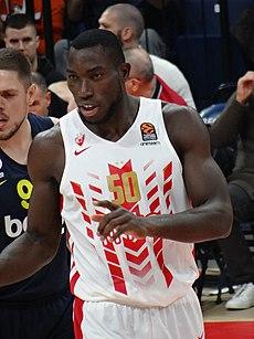 Michael Ojo (basketball, born 1993) 50 KK Crvena zvezda EuroLeague 20191010 (1).jpg
