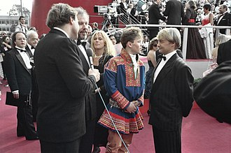 Nils Gaup - Mikkel Gaup and Nils Gaup at the 1988 Oscar ceremony