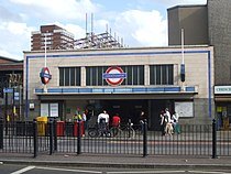 Mile End stn entrance.JPG