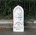 Mile marker on A48 outside Ely cemetery - geograph.org.uk - 286713.jpg