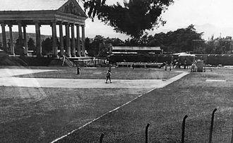 Manuel Estrada Cabrera - Baseball Stadium Enrique Torrebiarte (then Minerva Stadium) before stands construction.