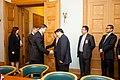 """Ministru prezidents Valdis Dombrovskis tiekas ar pasaules vadošo telekomunikāciju risinājumu ražotāja """"Huawei Technologies Investment"""" vadību (6429644363).jpg"""