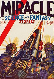 <i>Miracle Science and Fantasy Stories</i> US pulp science fiction magazine