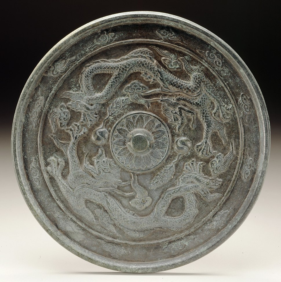 Mirror with Dragons Chasing Flaming Pearls LACMA M.2000.15.181