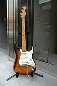1954 Stratocaster, with ash body, maple fingerboard and two-color sunburst finish