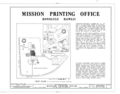 Mission Printing Office, King and Kawaiahao Streets, Honolulu, Honolulu County, HI HABS HI,2-HONLU,20- (sheet 1 of 3).png