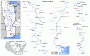 Mississippi nehri ve havzası