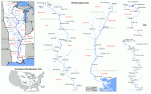 Map of the Mississippi River
