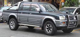 Mitsubishi L200 (third generation) (open bed) (front), Serdang.jpg
