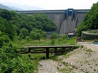 Miwa Dam Dam in Nagano Prefecture, Japan