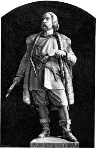 Engelbrekt Engelbrektsson - Late 19th century model for a statue of Engelbrekt Engelbrektsson to be placed in Örebro