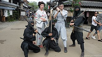 Ninjatō - Ninjatō-wielding Edo Wonderland Nikko Edomura entertainers, October 2010