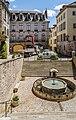 Monolithic fountain in Villefranche-de-Rouergue 02.jpg