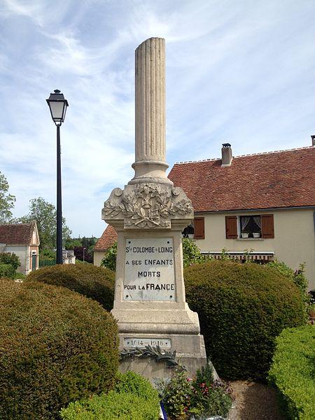 Monument aux morts de Sainte-Colombe-sur-Loing.