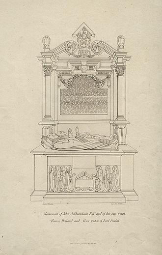 John Ashburnham (Royalist) - Monument to John Ashburnham and his two wives.