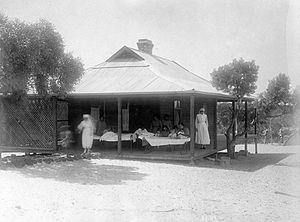 Moore River Native Settlement - Moore River Settlement Hospital, c.1920
