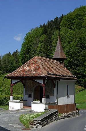 Sattel, Switzerland - Battle of Morgarten Chapel