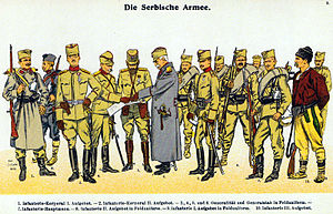 Royal Serbian Army - Field uniforms of the Serbian Army during the Balkan Wars.