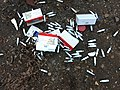 Mosa cream chargers fly-tipped at Bakers Hill car park 05.jpg