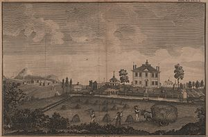 Moses Gill - 1792 engraving showing the Gill estate in Princeton