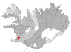 Location of the Municipality of Mosfellsbær的位置