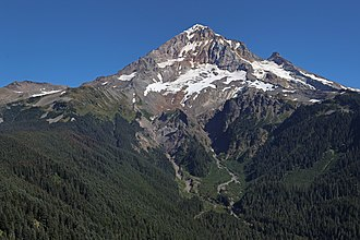 Mount Hood - View of Mount Hood from the west