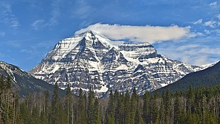 Mount Robson Mountain in British Columbia, Canada