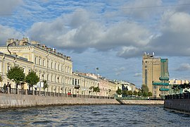 Moyka River at Postal Workers House of Culture Saint Petersburg.jpg