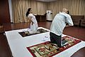 Mrs Manekar and Anil Shrikrishna Manekar - Ardha Ustrasana - International Day of Yoga Celebration - NCSM - Kolkata 2015-06-21 7350.JPG