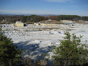 Mount Airy, North Carolina - World's largest open faced granite quarry, near Mount Airy.