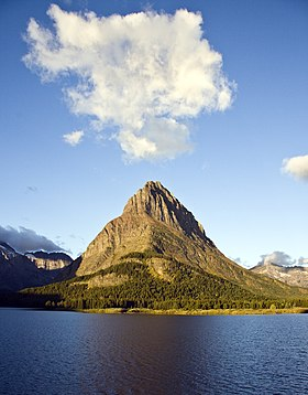 Grinnell Point rises above Swiftcurrent ...