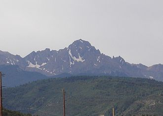 Colorado State Highway 62 - Mount Sneffels from SH 62.