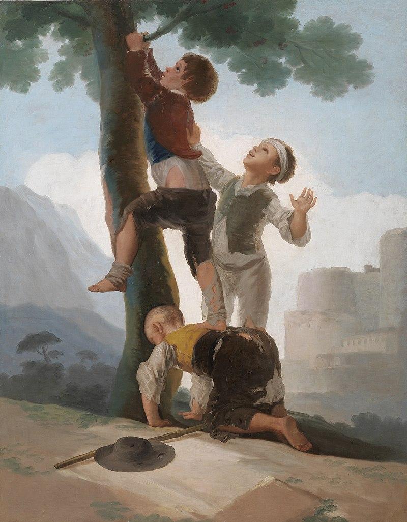 Immagine del quadro muchachos trepando a un árbol