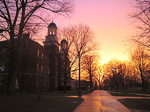 Harrison Hall at Sunset