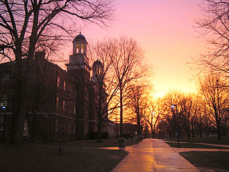Miami University - Harrison Hall at sunset