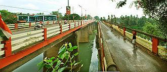 Muvattupuzha - Muvattupuzha Old and New Bridges