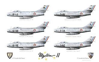 Dassault Mystère - Dassault Mystère II 1956-1957