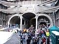 Nádraží Veleslavín, DOD, nástupiště, pohled z jámy k Červenému Vrchu (01).jpg