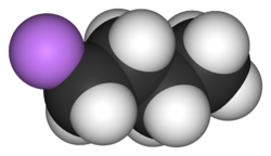 3D ball-and-stick model of n-butyllithium