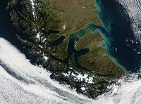 Космічний знімок вогняної землі
