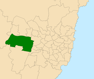 Electoral district of Mulgoa state electoral district of New South Wales, Australia