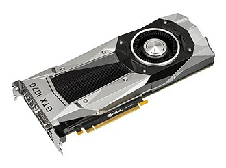 Nvidia - The Nvidia GTX 1070 video card, released in May 2016, uses a 16 nm Pascal chip.