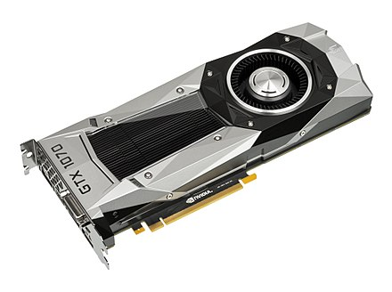 The NVIDIA GTX 1070, which uses a 16 nm Pascal chip manufactured by TSMC NVIDIA-GTX-1070-FoundersEdition-FL.jpg