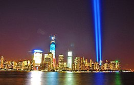 NYC World Trade Center Tribute in Light 2012.jpg