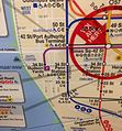 NYC subway map at Times Square showing Hudson Yards.jpg