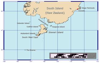 Foveaux Strait - Overview map